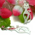 925 STERLING SILVER KITTY CAT CHARM / PENDANT #11