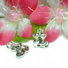 925 STERLING SILVER KITTY CAT'S BACK CHARM / PENDANT #7