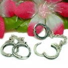 925 STERLING SILVER HANDCUFFS (OPENS) CHARM / PENDANT
