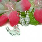 925 STERLING SILVER 2-PC BREAK AWAY BEST FRIENDS CHARM
