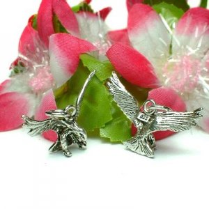 925 STERLING SILVER FLYING EAGLE CHARM / PENDANT