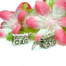 925 STERLING SILVER OVERED WAGON CART CHARM / PENDANT