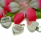 925 STERLING SILVER BEST FRIENDS HEART CHARM / PENDANT