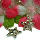 STERLING SILVER FILIGREE PUFFED STAR CHARM PENDANT #226