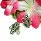 925 STERLING SILVER FILIGREE JAR CHARM /PENDANT