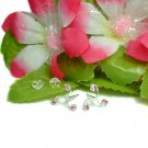 STERLING SILVER TRILOGY PINK CUBIC ZIRCON STUD EARRINGS