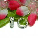 925 STERLING SILVER ENAMEL PANDA BEAR HOOP EARRINGS #4