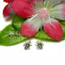 925 STERLING SILVER SPIDER CUBIC ZIRCONIA STUD EARRINGS