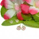 925 STERLING SILVER HELLO KITTY PINK STUD EARRINGS