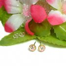 925 STERLING SILVER HELLO KITTY ORANGE STUD EARRINGS