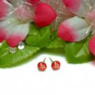 STERLING SILVER LONGEVITY CHARACTER RED STUD EARRINGS