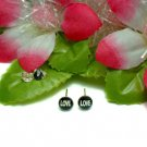 "925 STERLING SILVER ""LOVE"" LETTER STUD EARRINGS #24BK"