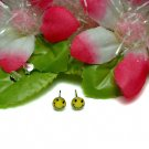 925 STERLING SILVER SMILEY FACE YELLOW STUD EARRINGS