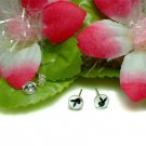 STERLING SILVER PLAYBOY BUNNY RABBIT STUD EARRINGS #5WH