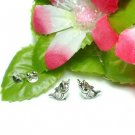 925 STERLING SILVER CARP FISH STUD EARRINGS