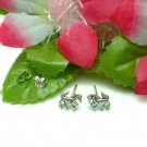 925 STERLING SILVER PONY HORSE STUD EARRINGS #70