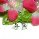 925 STERLING SILVER LONGEVITY CHARACTER STUD EARRINGS