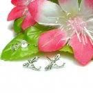 925 STERLING SILVER DRAGONFLY STUD EARRINGS #416