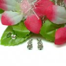 925 STERLING SILVER HAWAIIAN HULA GIRL STUD EARRINGS