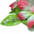 925 STERLING SILVER SAKURA FLOWER STUD EARRINGS