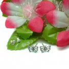 925 STERLING SILVER BUTTERFLY STUD EARRINGS #4