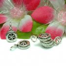 925 STERLING SILVER CAR WHEEL TYRE CHARM / PENDANT