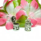 STERLING SILVER CIRCULAR FILIGREE PRAYER PILLBOX PENDAN