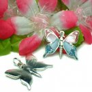 STERLING SILVER BUTTERFLY MOTHER OF PEARL PENDANT #7PK