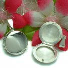 925 STERLING SILVER PLAIN ROUND PHOTO LOCKET / PENDANT