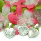 925 STERLING SILVER HEART WIF ROSE PHOTO LOCKET PENDANT