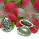 925 STERLING SILVER FILIGREE FLOWER PHOTO LOCKET #16