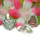925 STERLING SILVER FILIGREE HEART PHOTO LOCKET PENDANT