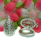STERLING SILVER FILIGREE OVAL PHOTO LOCKET PENDANT #12