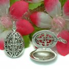 925 STERLING SILVER FILIGREE OVAL PHOTO LOCKET PENDANT