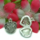 STERLING SILVER FILIGREE HEART PHOTO LOCKET PENDANT #4