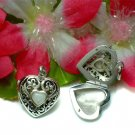 925 STERLING SILVER MOTHER OF PEARL HEART PHOTO LOCKET