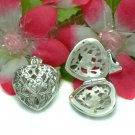 STERLING SILVER FILIGREE HEART PHOTO LOCKET PENDANT #7