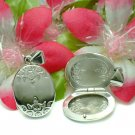 925 STERLING SILVER OVAL W FLOWERS PHOTO LOCKET PENDANT