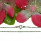 """925 STERLING SILVER 18"""" TWISTED CURB CHAIN NECKLACE"""