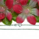 "925 STERLING SILVER 18"" DOUBLE BEAD CHAIN NECKLACE"