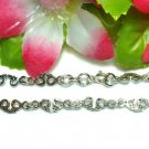 925 STERLING SILVER HANDCUFFS CHARM LINK BRACELET