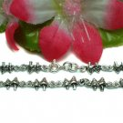 925 STERLING SILVER MUSHROOMS CHARM LINK BRACELET