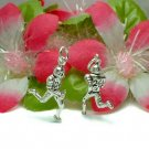 925 STERLING SILVER FOOTBALL PLAYER #24 CHARM / PENDANT