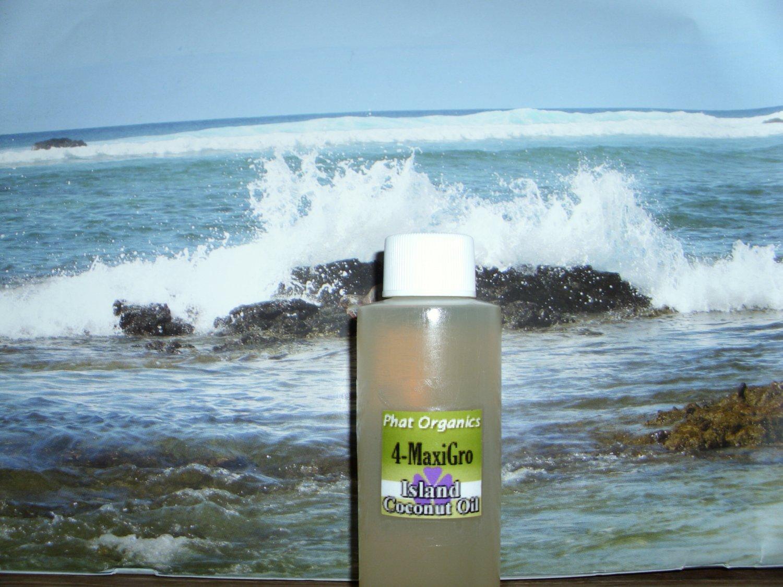 Phat Organics Island Coconut Kiwi Massage Oil 6 oz.