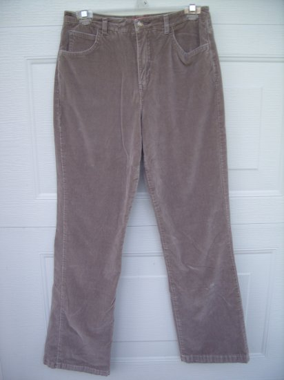Gloria Vanderbilt Stretch Tan Velour Pants SIZE 6