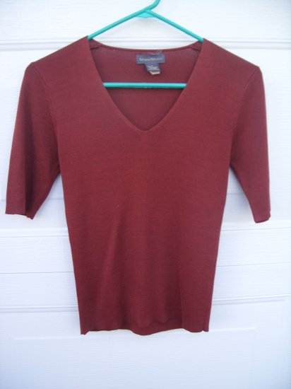 Banana Republic 100% Silk Knit  Tee SIZE SMALL