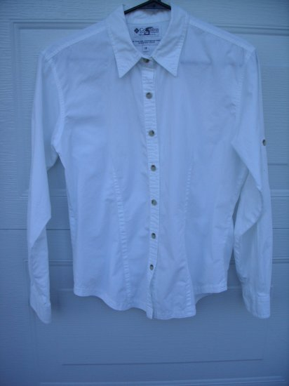 Columbia White Blouse Career SIZE MEDIUM