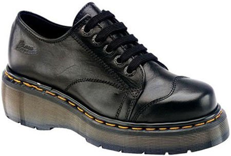 Dr. Martens Black Illusion 5 Eyelet Cap Toe Shoe 8651- Sz. 10 Womens, 9 Mens