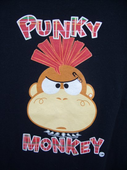 "The Toonworks ""Punky Monkey"" Tee SIZE LARGE"