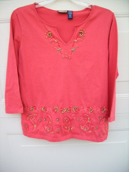 Havana Jack's Cafe Salmon Tunic SIZE MEDIUM